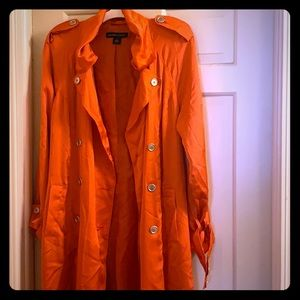 NEW YORK AND COMPANY Silk Trench Coat 🧡💖